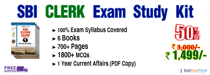 SBI CLERK Exam Study Materials