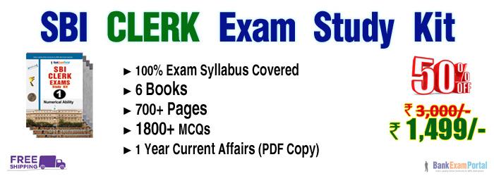 SBI CLERK Exam Study Materials