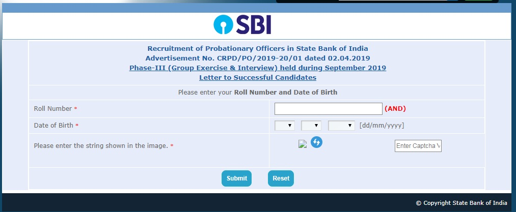 sbi clerk mains result 2014